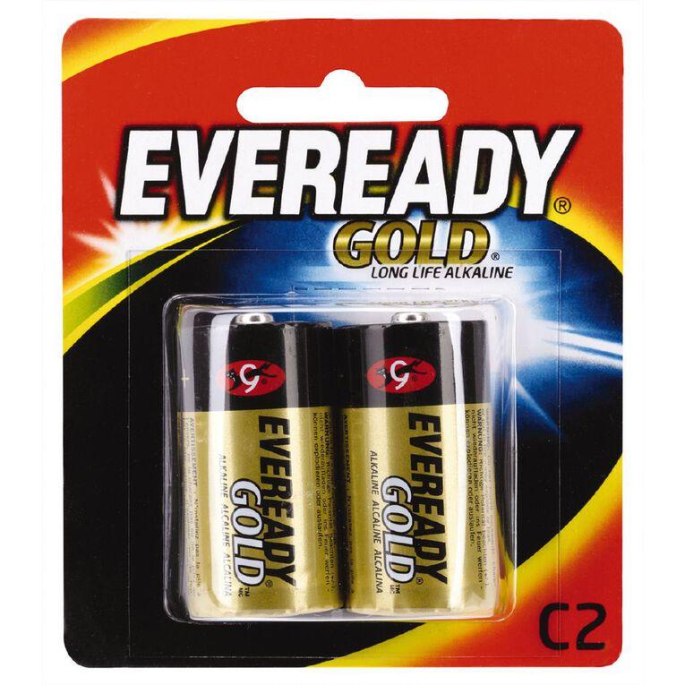 Eveready Gold Batteries C 2 Pack, , hi-res