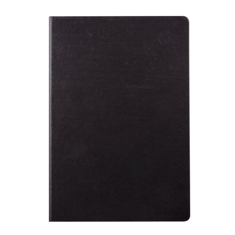 WS Hardcover PU Notebook Black A4, , hi-res