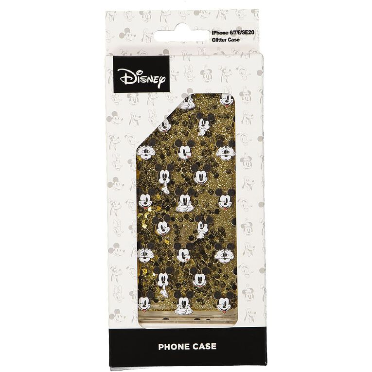 Mickey Mouse iPhone 6/7/8 Glitter Case Gold, , hi-res