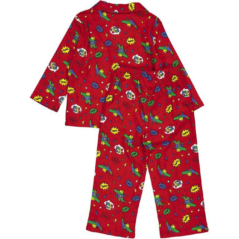H&H Kids' Flannelette Pyjamas, Red, hi-res image number null