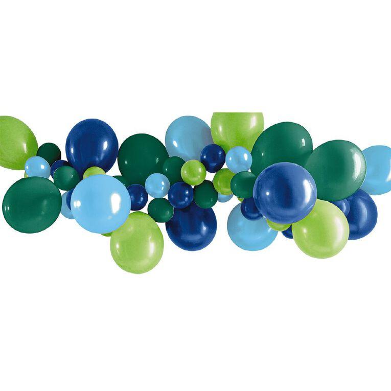 Artwrap Party Balloon Garland Blue & Green 40 Pack, , hi-res