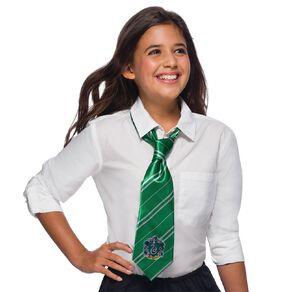 Harry Potter Slytherin House Crest Tie Green One Size