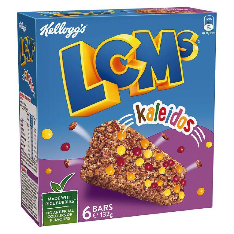 Kelloggs LCMs Rice Bubble Bars Kaleidos 6pk, , hi-res