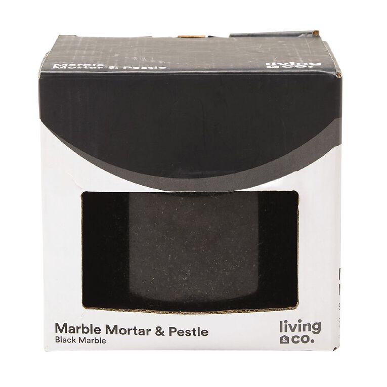Living & Co Mortar & Pestle Marble Black, , hi-res