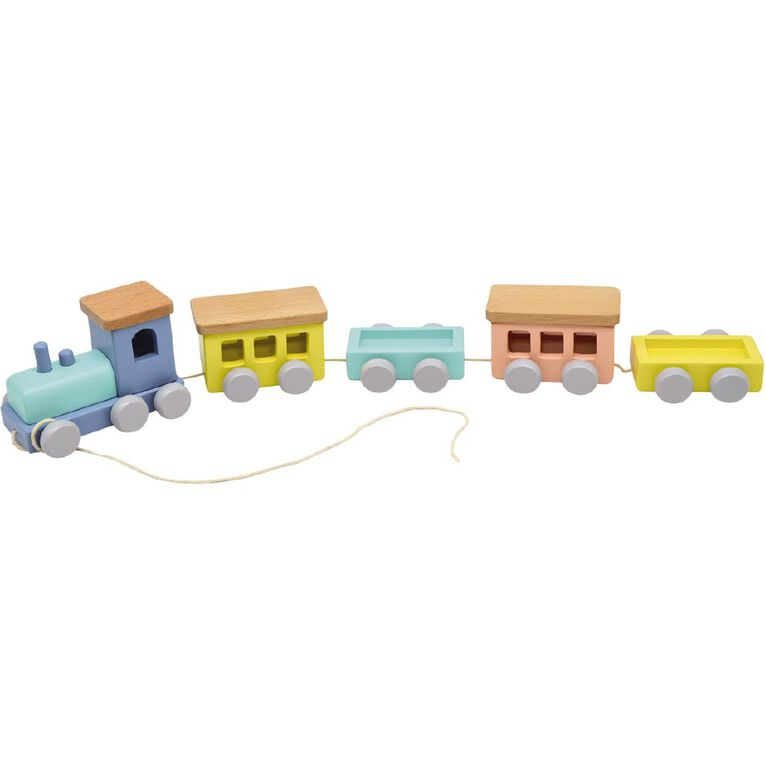 Play Studio Pull Along Wooden Train, , hi-res