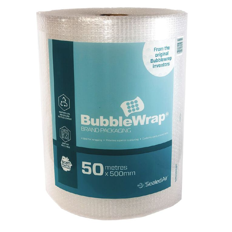 Sealed Air Recycled Bubble Wrap Roll 500Mm X 50M, , hi-res