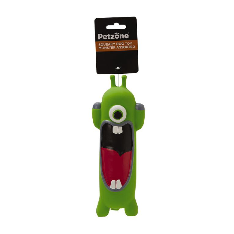 Petzone Squeaky Dog Toy Monster Assorted, , hi-res