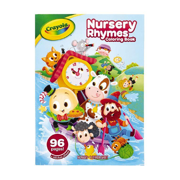 Crayola Coloring Book Nursery Rhymes 96 Page, , hi-res
