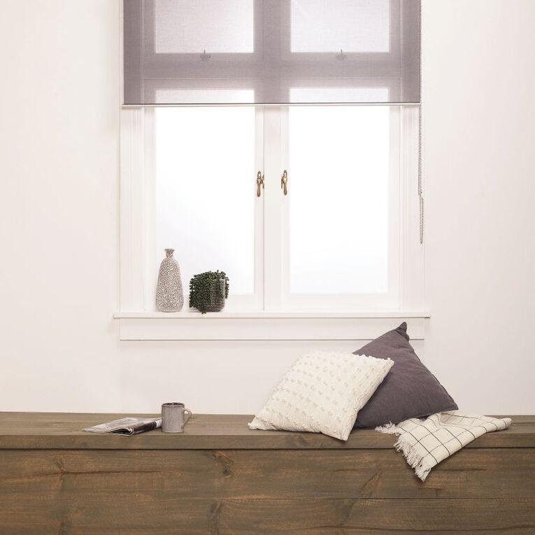 Homeworks Granada Sheer Roller Blind Grey Mid 90cm x 210cm, Grey Mid, hi-res