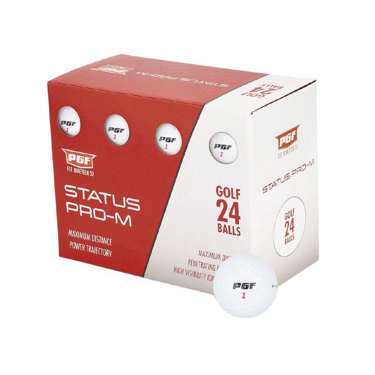 PGF Status Pro M Golf Balls 24 Pack, , hi-res