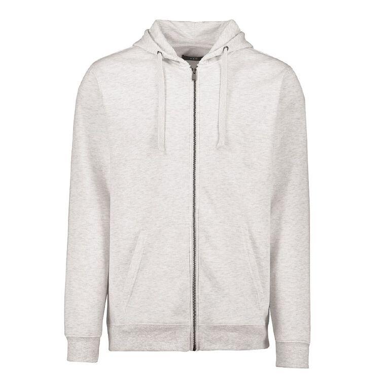 H&H Men's Zip Thru Hooded Sweatshirt, White, hi-res