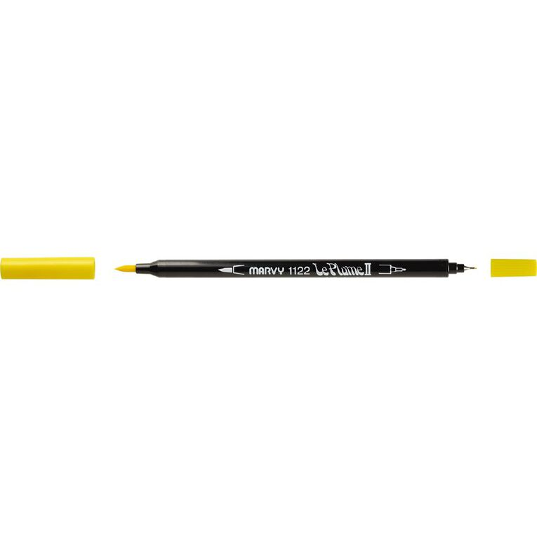 MARVY Le Plume II Dual Tip Marker Yellow, , hi-res