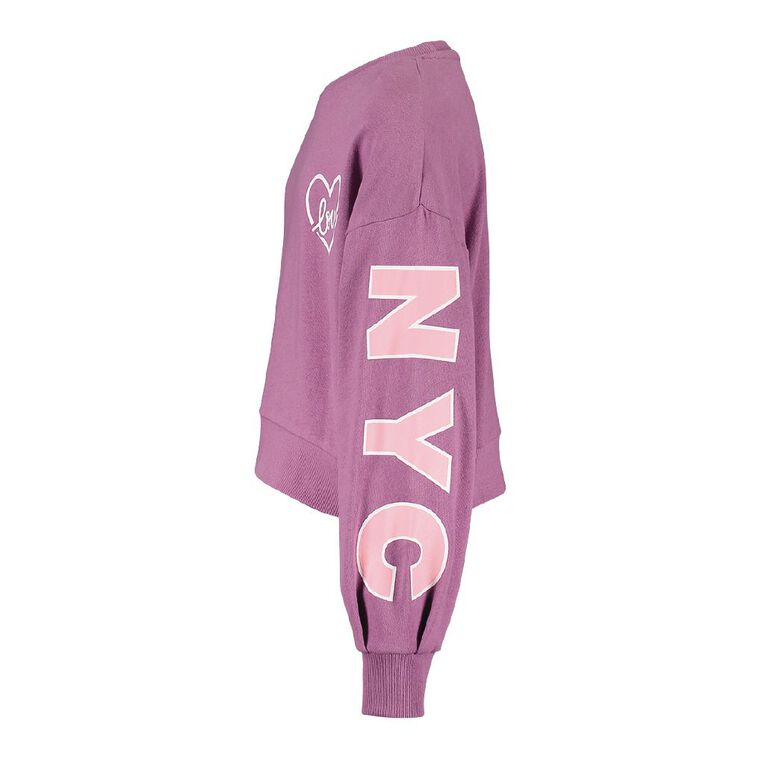 Young Original Billow Crew Sweatshirt, Purple Mid, hi-res