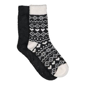 H&H Women's Bedsock Double Layer 2 Pack