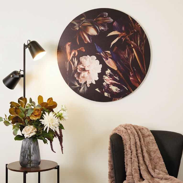 Living & Co Botanical Round Canvas 80 x 80 x 1.8cm, , hi-res