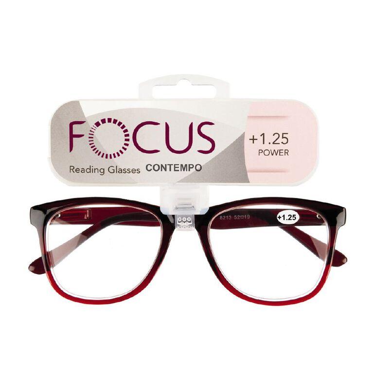 Focus Reading Glasses Contempo 1.25, , hi-res