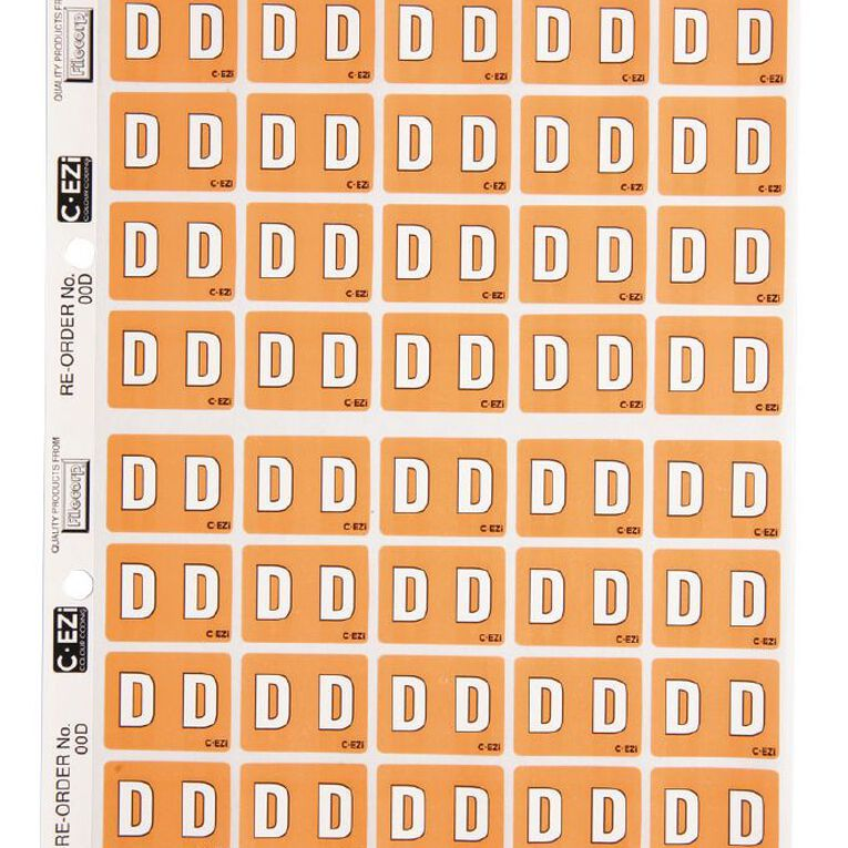 Filecorp Coloured Labels D Brown, , hi-res