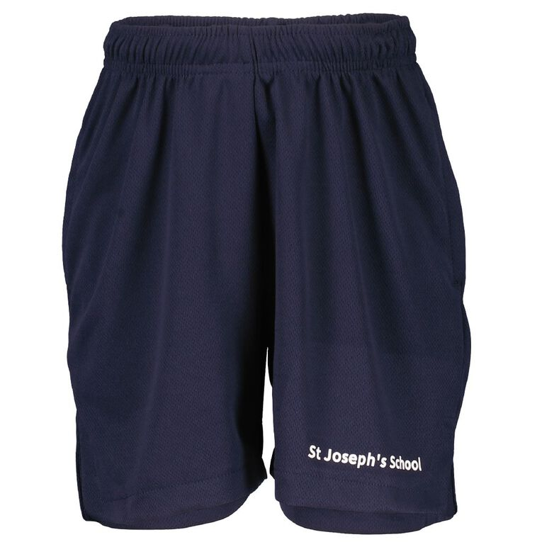 Schooltex St Joseph (Wairoa) Shorts with Embroidery, Navy, hi-res