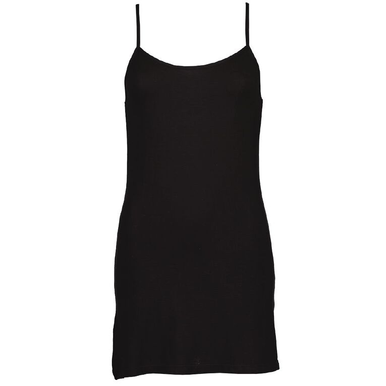 H&H Women's Bamboo Slip, Black, hi-res