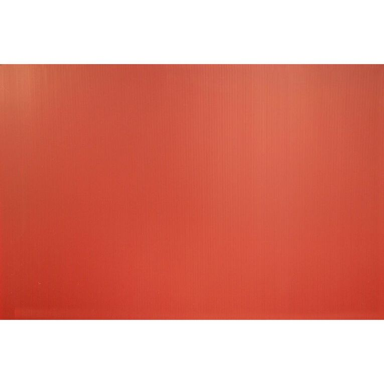 Plasti-Flute Sheet 600mm x 900mm Red, , hi-res