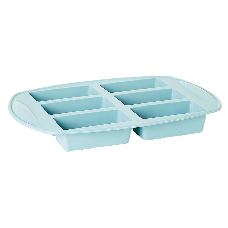 Living & Co Silicone Mini Loaf Pan Aqua 6 Cup, , hi-res