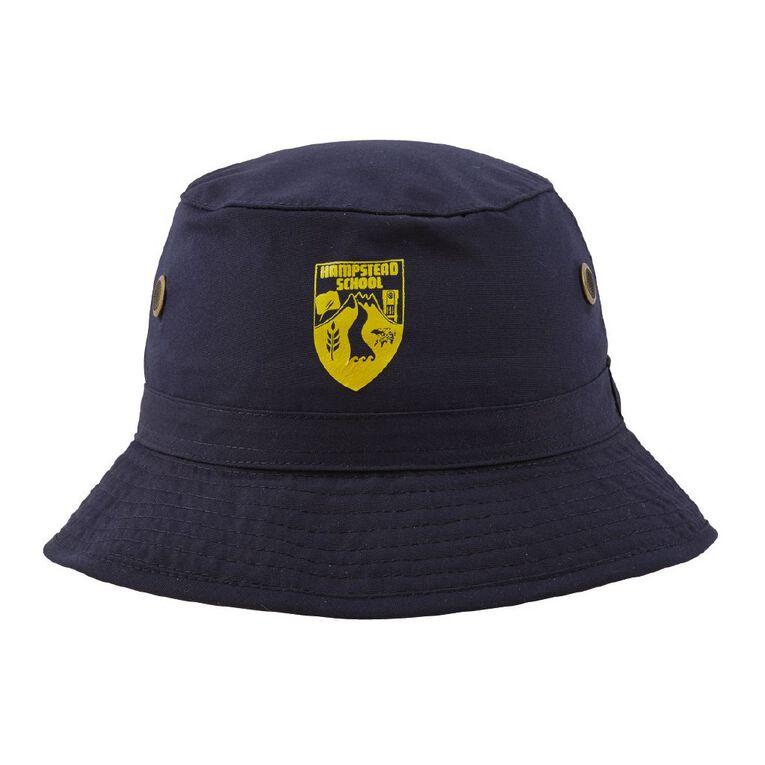 Schooltex Hampstead School Bucket Hat with Transfer, Navy, hi-res