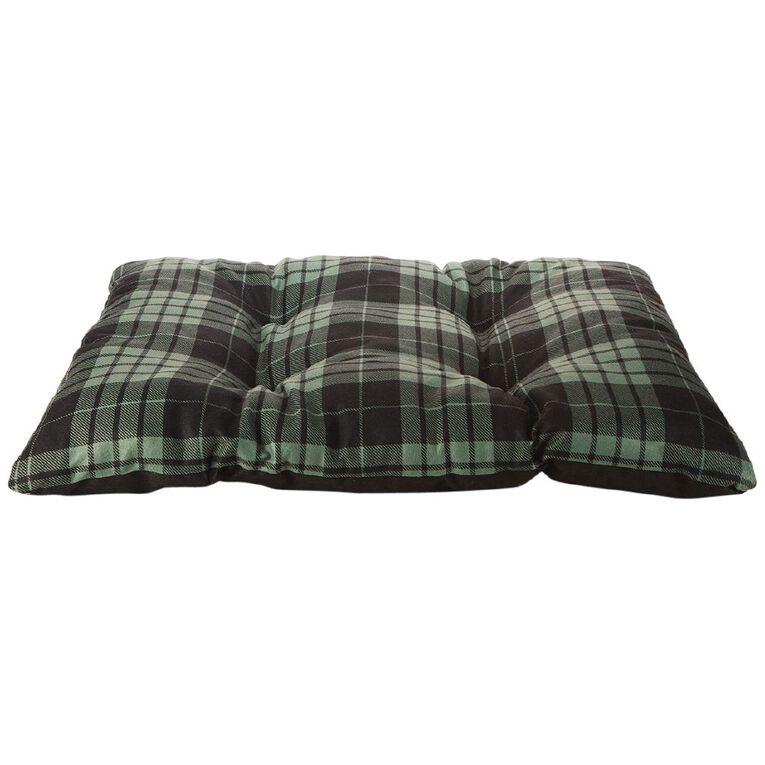 Petzone Fleece Pillow Bed Green Check, , hi-res
