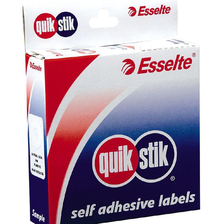 Quik Stik Labels Labels Ring Eyelets 200 Pack White, , hi-res