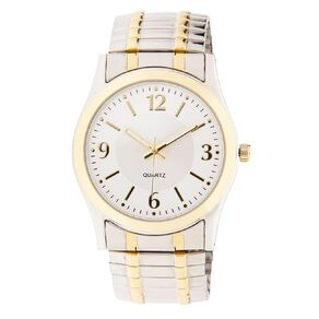 Eternity Men Classic Analogue Expander Watch Silver Gold