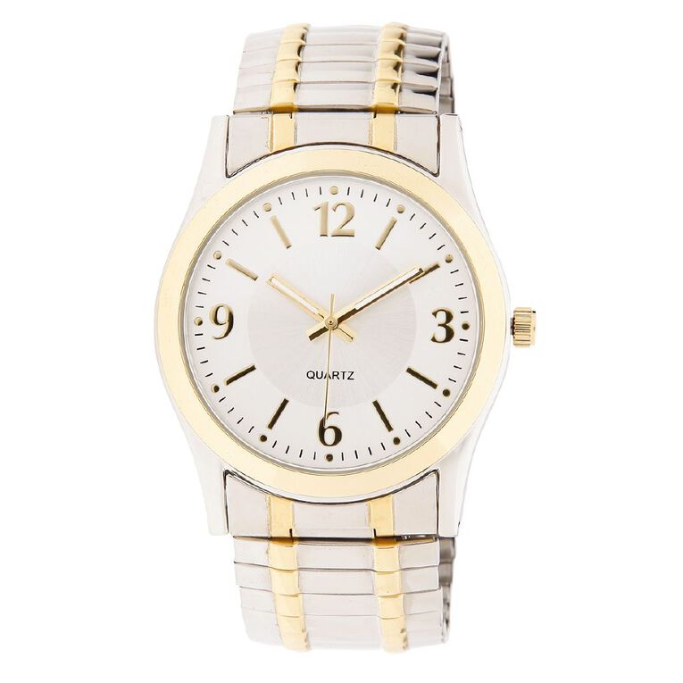 Eternity Men Classic Analogue Expander Watch Silver Gold, , hi-res