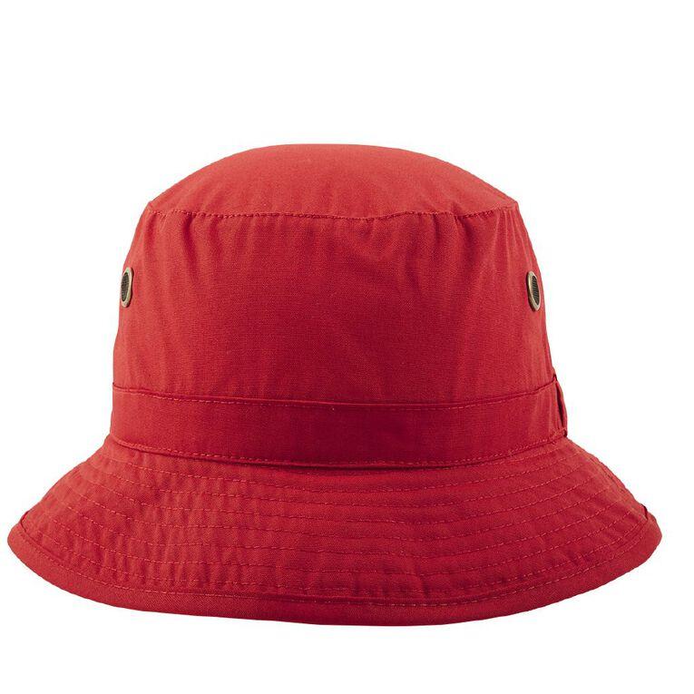 Schooltex Bucket Hat, Red, hi-res