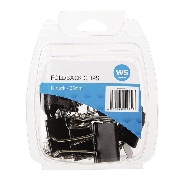 WS Foldback Clips 25mm 12 Pack, , hi-res