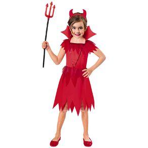 Amscan Devil Cutie Kids Costume with Headband 5-6 Years