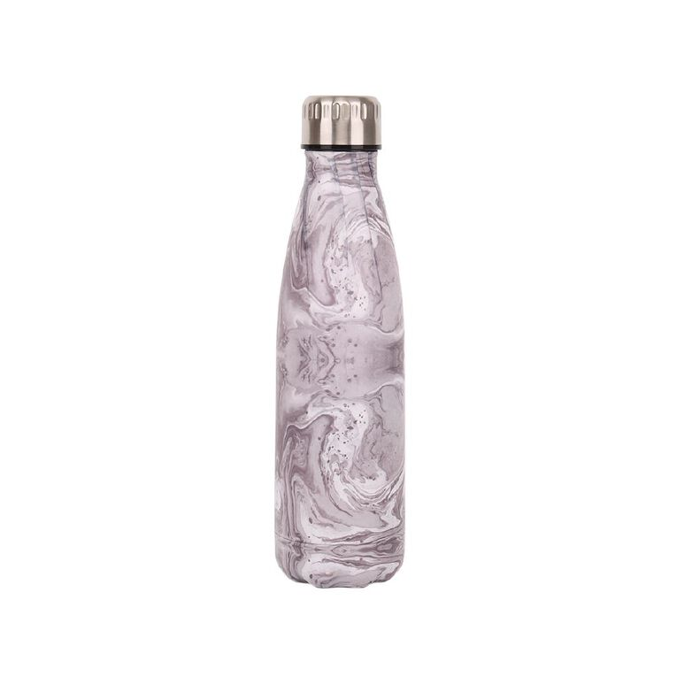 Living & Co Stainless Steel Drink Bottle Marble 500ml, , hi-res