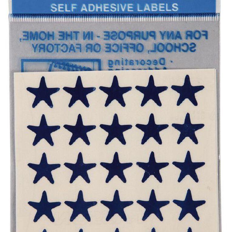 Quik Stik Labels Stars 150 Pack Blue, , hi-res image number null