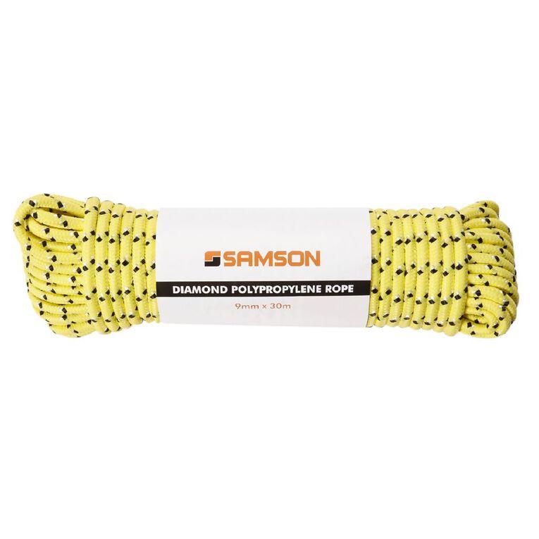 Mako Diamond Braided Poly Rope 9mm x 30m Assorted, , hi-res