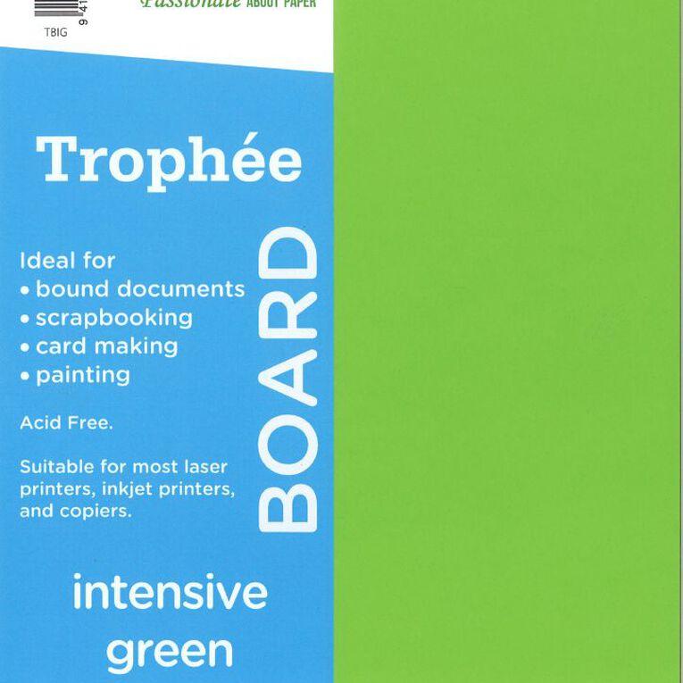 Trophee Board 210gsm 12 Pack Intensive Green A4, , hi-res