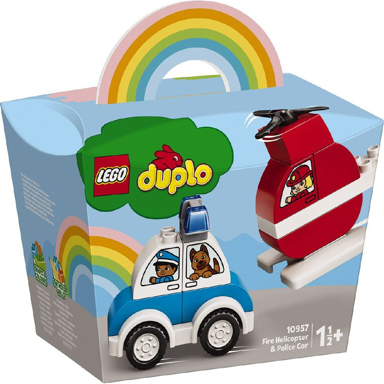 LEGO DUPLO Fire Helicopter & Police Car 10957, , hi-res