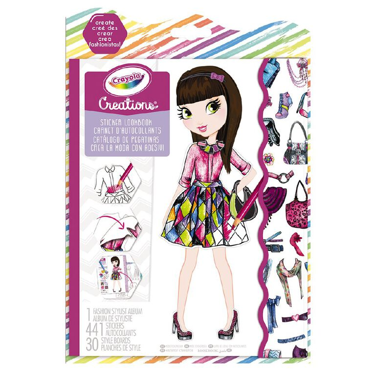 Crayola Creations Sticker Look Book, , hi-res