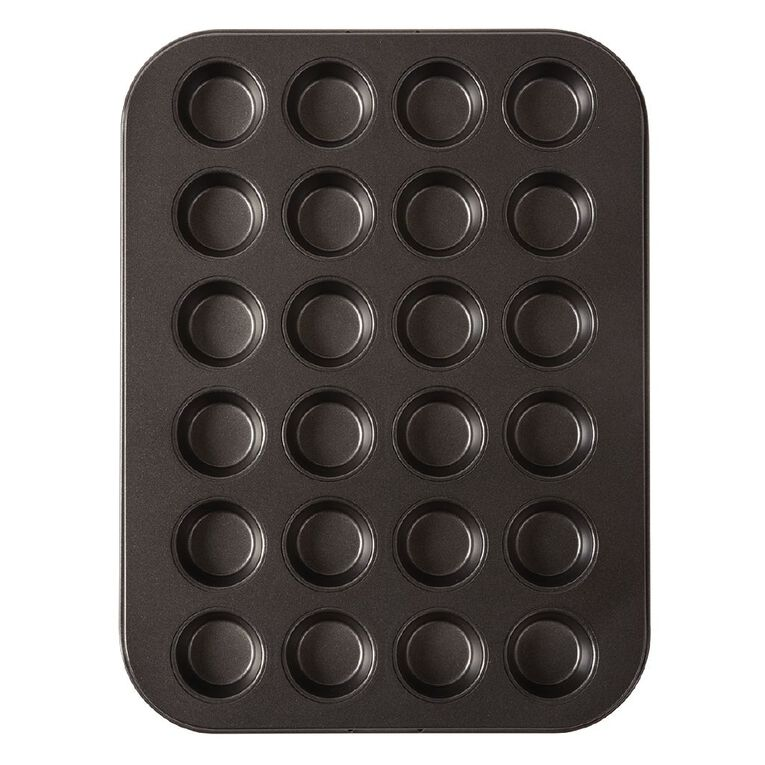 Living & Co Heavy Gauge Non Stick Mini Muffin Tray 24 Cup, , hi-res