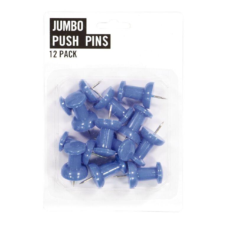 Necessities Brand Jumbo Push Pins 12 Pack, , hi-res