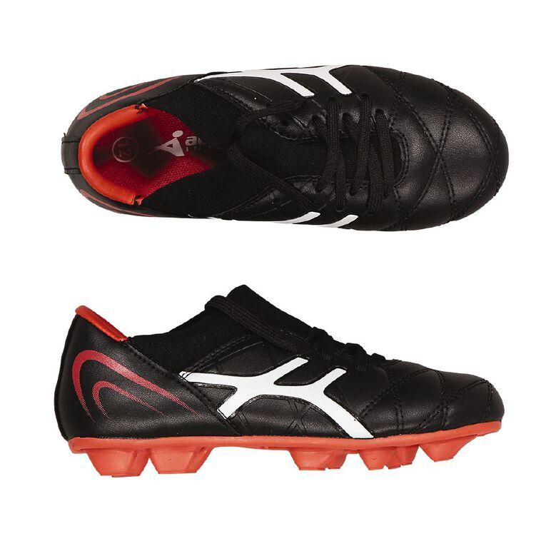 Active Intent Nohr1 Rugby/Soccer Boots JNR-SNR, Black/Red, hi-res