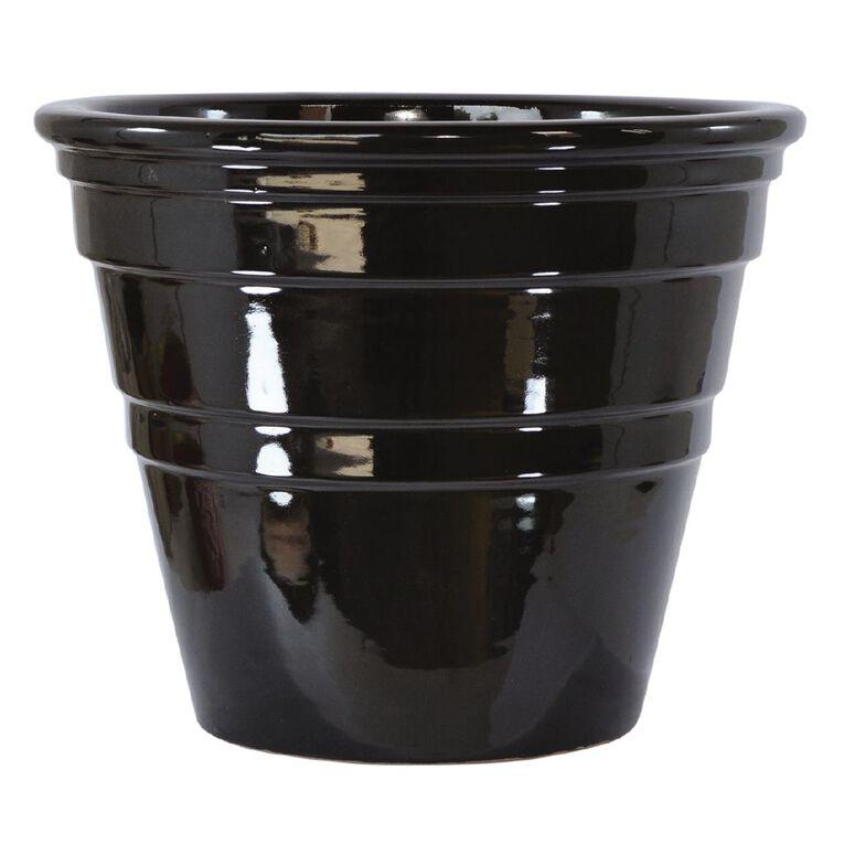 Kiwi Garden Bingo Pot 36 x 30cm Black, , hi-res