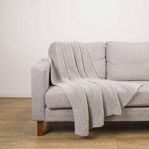 Living & Co Chunky Knit Throw Grey 127cm x 152cm