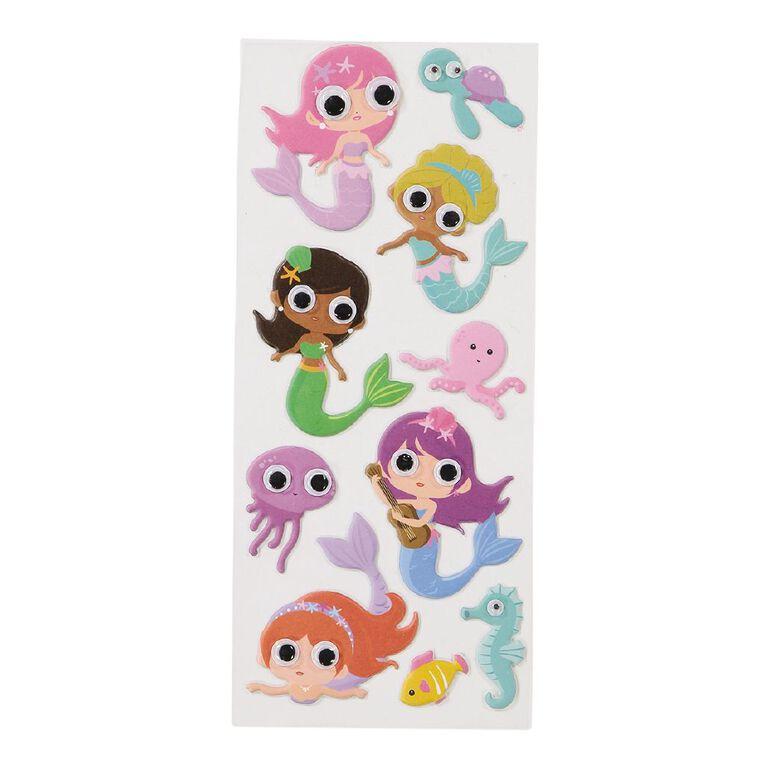 Kookie Sticker Sheet Puffy Eyes Mermaid, , hi-res