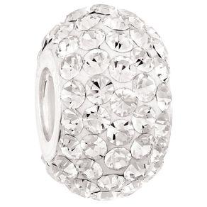 Ane Si Dora Sterling Silver White Crystal Charm
