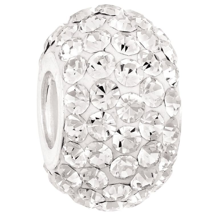 Ane Si Dora Sterling Silver White Crystal Charm, , hi-res