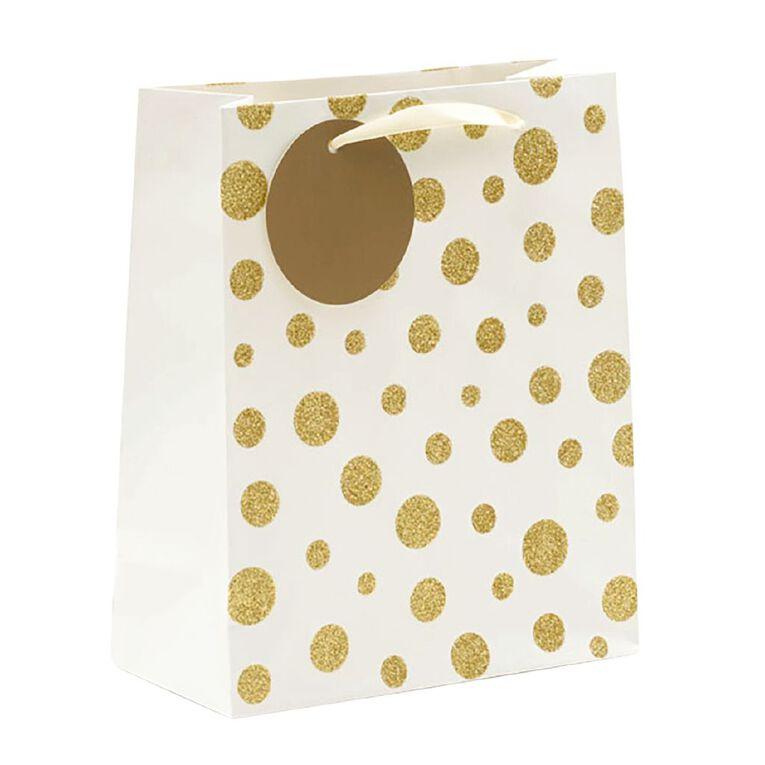 John Sands Gift Bag Spots Gold Medium, , hi-res