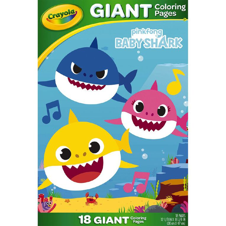 Crayola Giant Coloring Pages Baby Shark, , hi-res