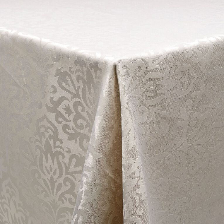 Living & Co Table Cloth Jackie White 135cm x 230cm, , hi-res